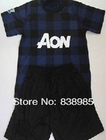 Футбольная одежда для девочек all player 2013/2014 manchester blank kids boys girl soccer football jersey shirt embroidery cutomize home red away dark blue