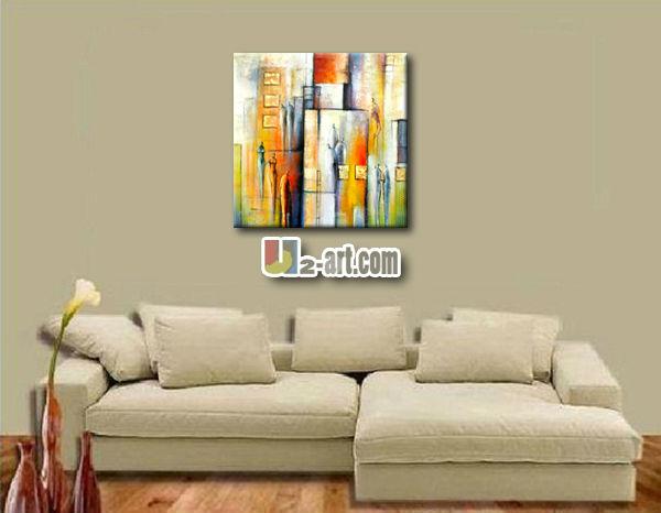 schlafzimmer moderne kunst stadtbild leinwand gemälde wand, Schlafzimmer