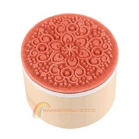 Потребительские товары R1B1 Practical 6 in 1 Round Wooden Rubber Retro Floral Pattern Stamps