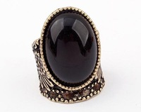 Min.order is $15 (mix order) Free Shipping  Antique Black Gem Stone Classic Style  Hot sale Rings(Black)   R134