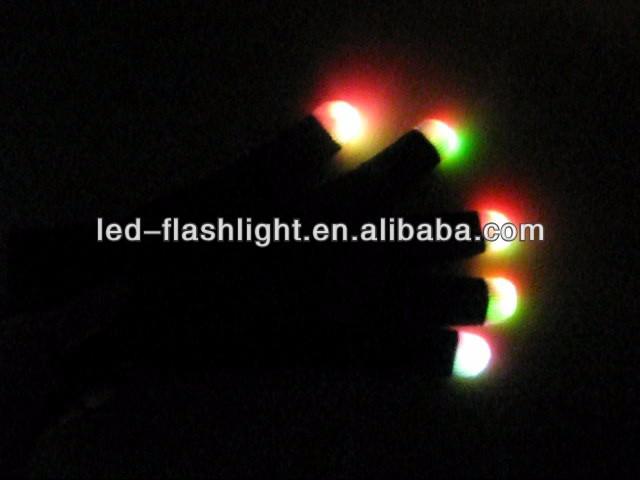 China Wholesale Party Supplies Led Finger Light Glove / Led Glove Light