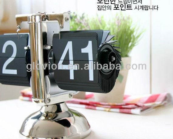 2014 items retro flip clock retro flip digital alarm clock Decorative calendar flip clock