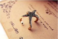Кольцо 19mm size Retro cute starfish ring jewelry J1295