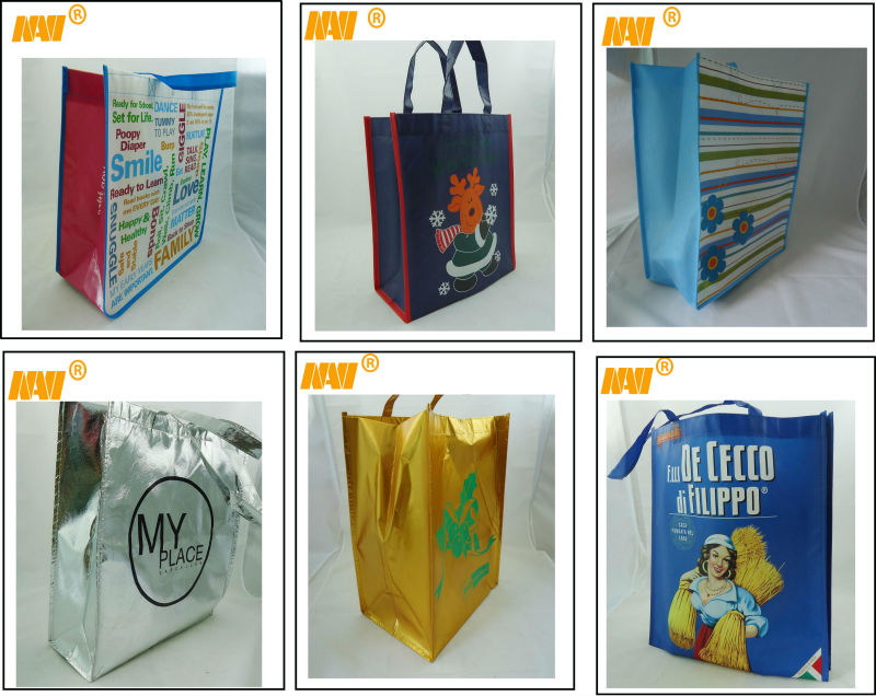 can make any printing logo colorful non woven shopping bag(NV-068)