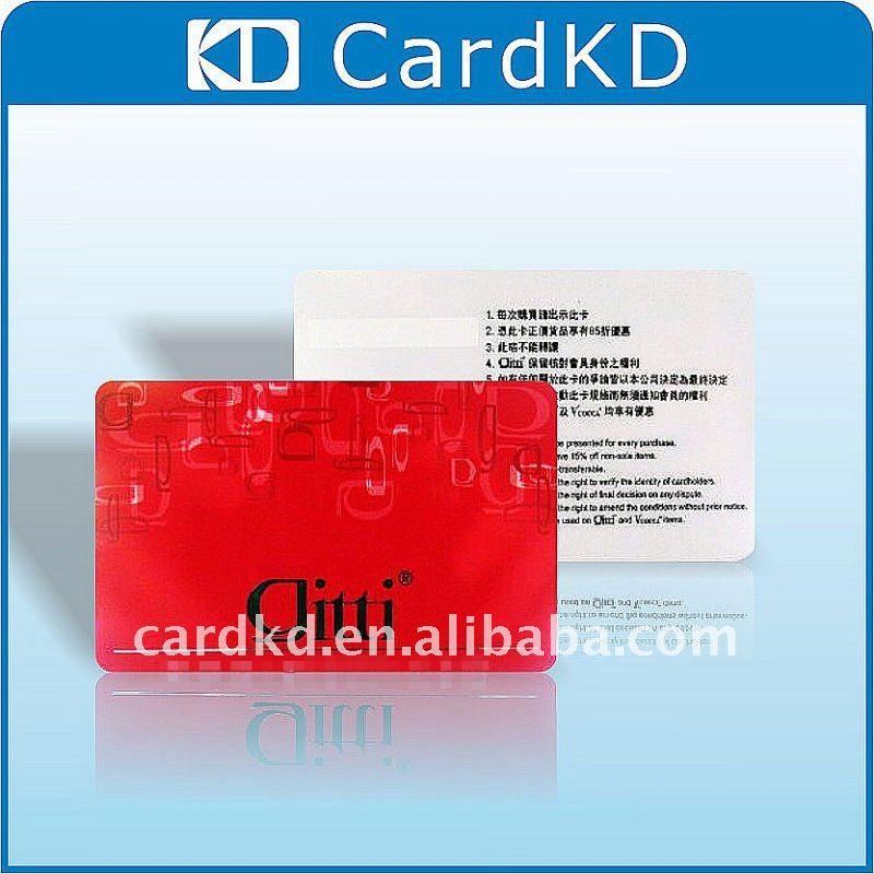 PVC laminated card
