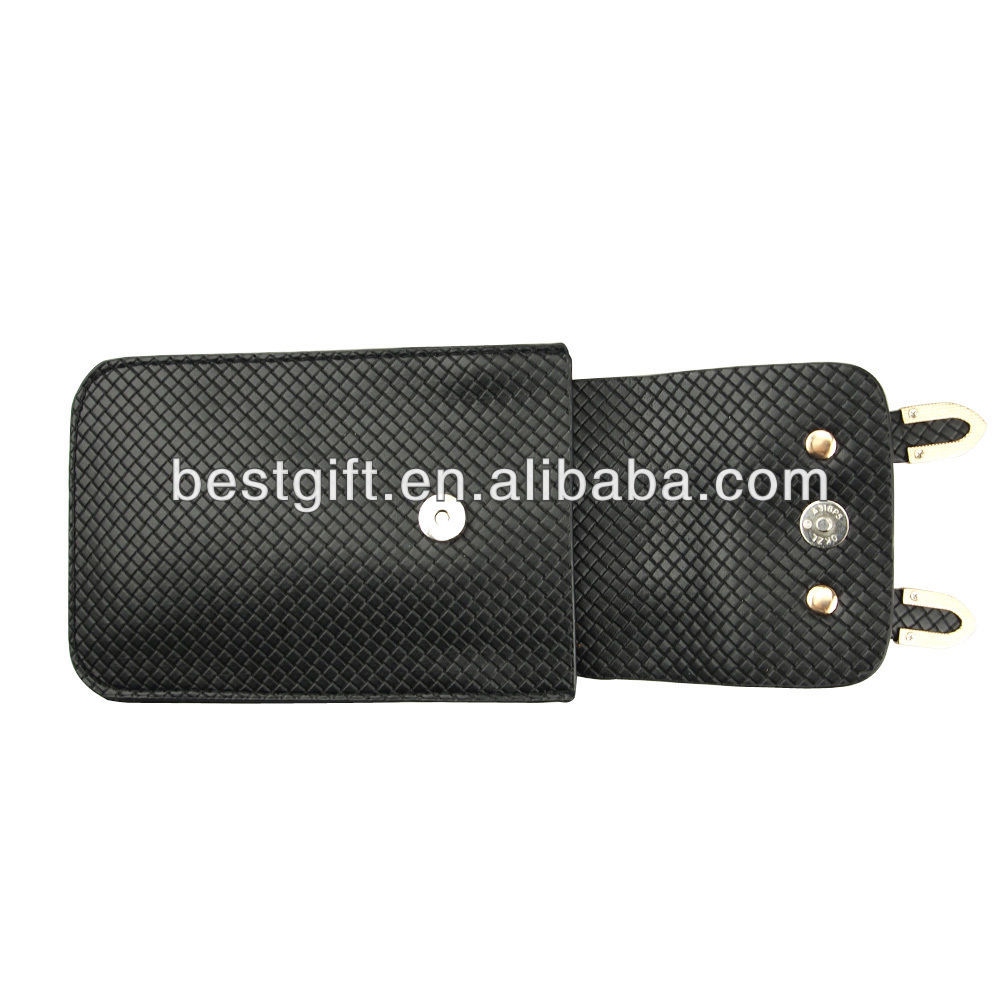 Neck strap PU faux leather cell phone bag