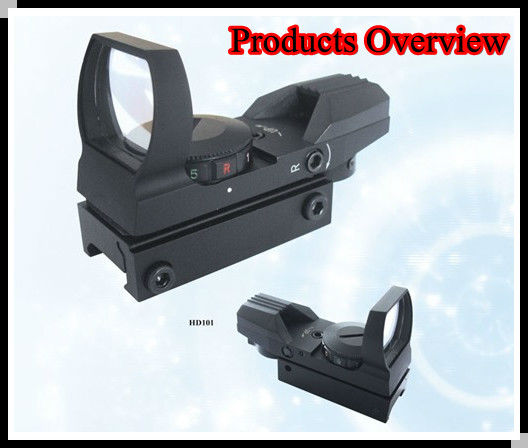 New Holographic red & green dot open reflex sight black 4 type reticle for weaver base & riflescope, pistol