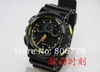 Наручные часы Hot whole sale 2012 fashion shock GA-100-1AD sport bracelet G Digital watch