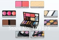 Тени для глаз Makeup Set, 30colours Eye Shadow/lip gloss/Blusher/ Powder puff/foundation, Makeup Kits s and retail