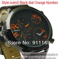 Наручные часы NEW OULM Sport Mens Three Small Dial Sports Wrist watch Faux Leather Strap