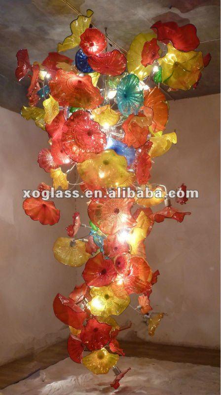 Hotel glas kunst dekoration licht und glas geblasen kronleuchter ...