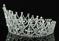 Ювелирное украшение для волос Bridal Wedding Party Quality Pageant Crystal Full Circle Round Tiara Crown CT1581