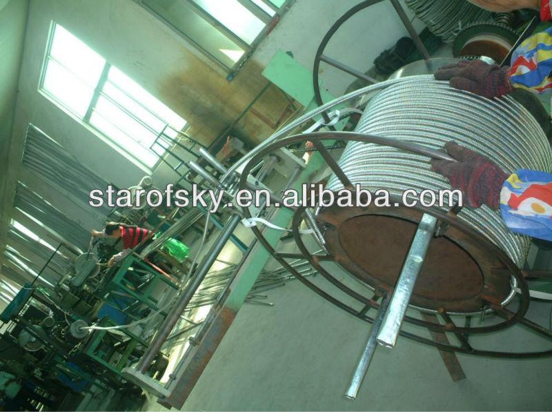SUS304 DN40 Metal flexible expandable cooker gas hose PE coated