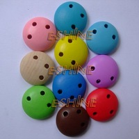 (free shipping) 200 pcs mixed color wood baby pacifier clip