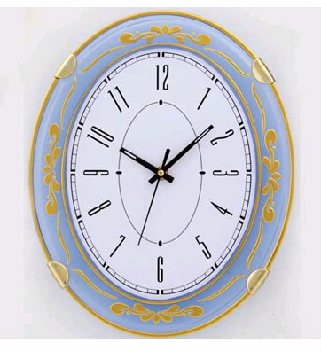 Beautiful Flower Frame Wall Clocks Wholesale Oval Shape