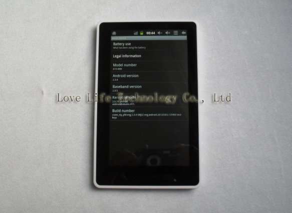 "7 inch MID Tablet PC Allwinner A10 OS 2.34 1.5 GHZ 512M 4GB Camera Capacitive Screen 7"" MID Bag Film + Freeshipping Chinapost"