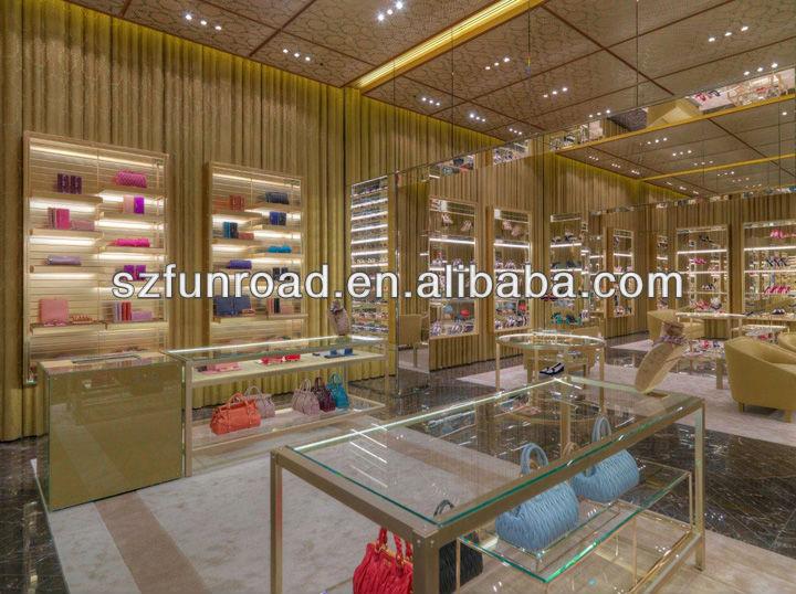 Vitrine de chaussures de verre et haut de gamme meubles - Marque de peinture haut de gamme ...