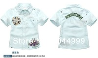 Рубашка для мальчиков High Quality Summer children shirts, HK SUNo brand kids boys shirts, designer shirts boy for 2-7T children wear