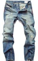 Новый классический дизайн Брюки мужские прямые джинсы размер nz067