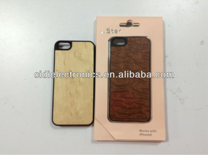 2013 PC+wood case for iPhone 5;wood cell phone case