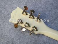 левша электрическая гитара, viintage белый lp обычай, левша рукой гитара