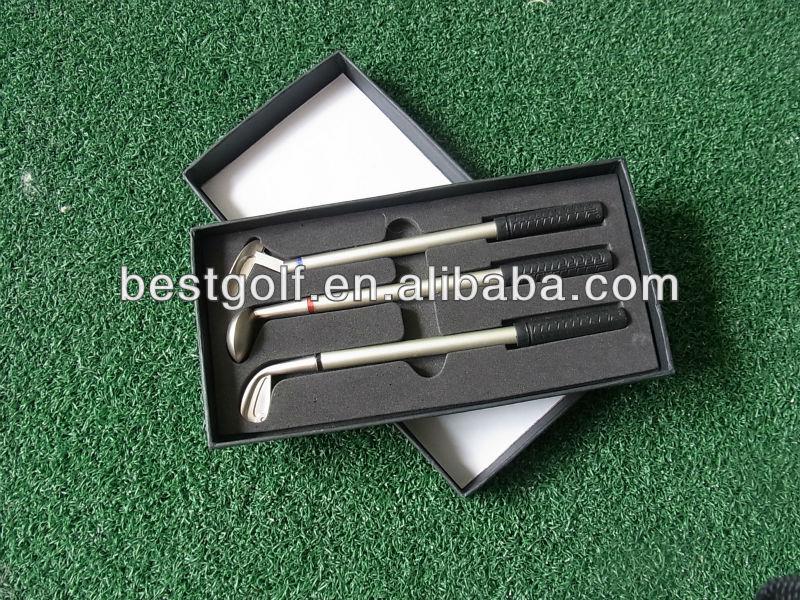 Hot Sell Executive Three me<em></em>tal Pen Golf Gift G130