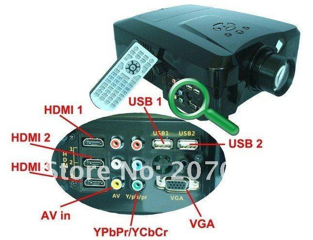 Factory wholesale Video projector full hd 3D led LCD Projector For Home theater Support 1080P with 3HDMI 2USB support hard disk