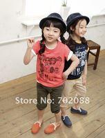Шорты для девочек 5pcs 2013 Children's casual shorts Boys/girls shorts Letter pattern Size: 90-130