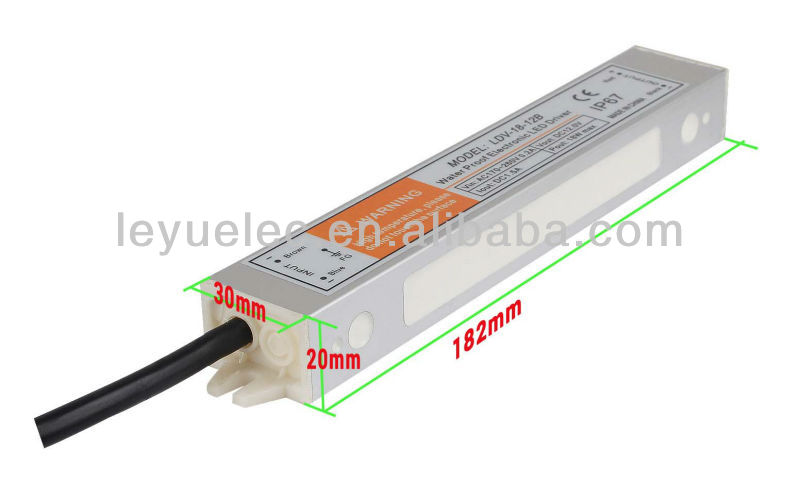 18W waterproof electronic led driver