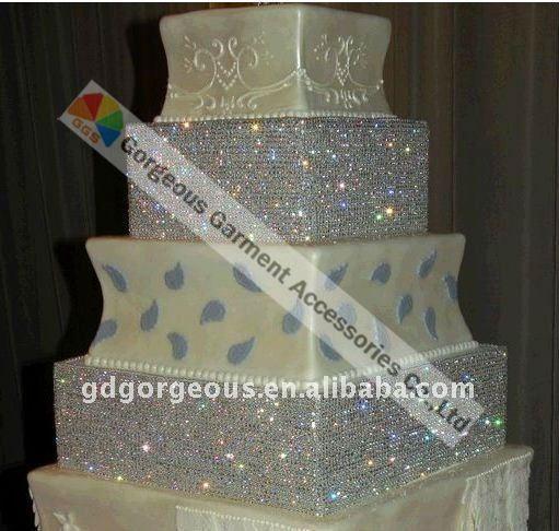24 lines wedding cake crystal rhinestone trim