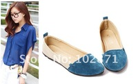 2012  New Style Shoes,Low-heeled shoes ,Spring and autumn shoes ,Pointed head ,beautiful and sweet ,Free Shipping
