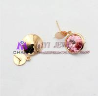 Серьги-кольца Charm 3 /lot, 18K , DE050