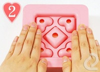 Fedex  Diy Sandwich Maker Bread Making Mould Heart Shape Cake Mould With Cover Free Shipping