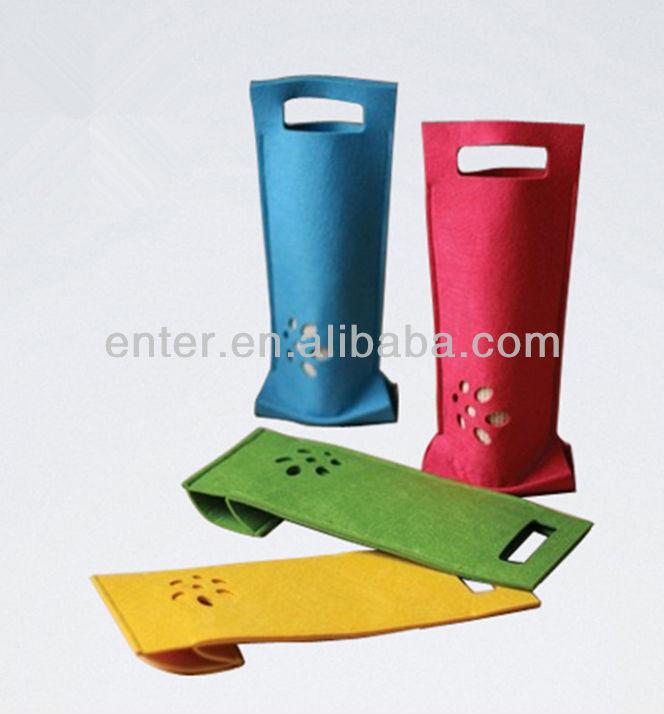 Promotional felt wine bottle bag / felt tote bag / felt package bag