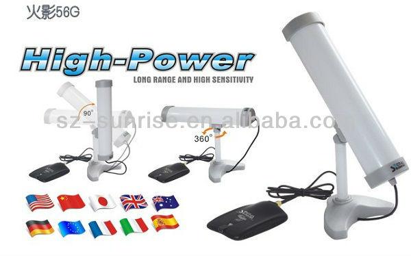 10dBi antenna signaking 56G high power wireless network adapter with realtek 8187L