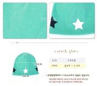 2PCS/lot free shipping baby hat five star infant cap Cotton Beanie Toddler children kids hats