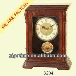 Wooden pendulum antique table Clock