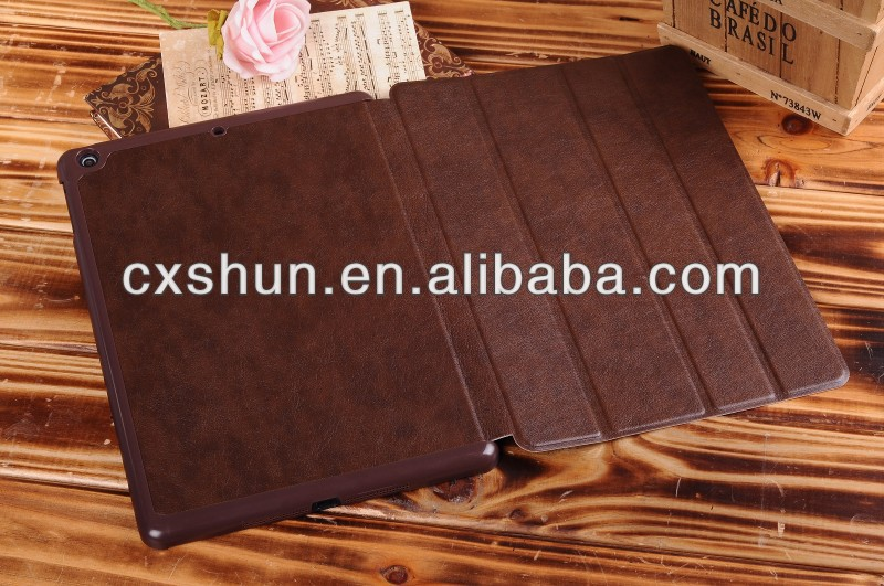 China manufacturer Four fold cases for ipad 5 air smart cover
