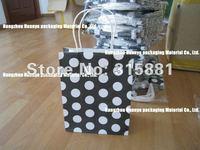 Polka dot kraft paper bag & Festival gift package, Fashionable gift paper bag, 21X13X8cm
