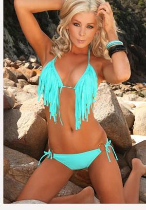 Женское бикини new victoria maillot de bain women bikini sexy women beach fringe swimwear suit biquini