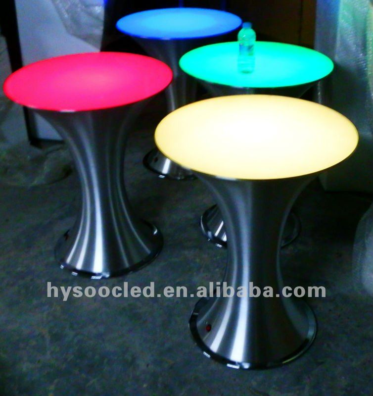 led round bar table