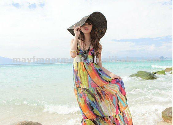 Colorful cheap maxi dress