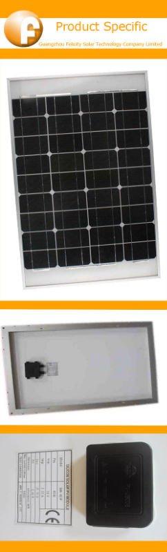 solar panel price per watt 50w mono ( with CE&ROHS certification )