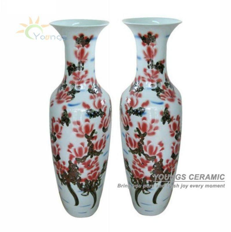 Decoracion Jarrones Chinos ~ chino tallada a mano de cer?mica de peon?a altos jarrones de flores