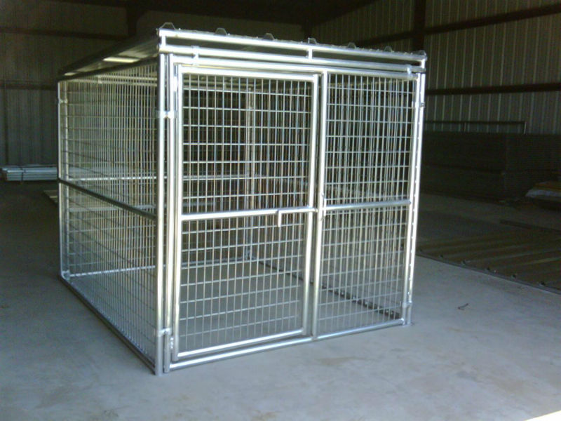 5'x10'x6' big dog house clamp connector chien court solide toit chien chenils