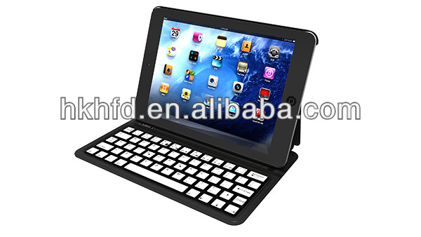 For iPad Mini tablet sleeve with inner super thin 2MM nice metal keyboard