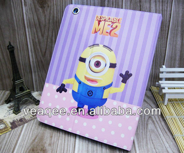 2014 popular wallet cute cartoon mobile phone case for ipad 2