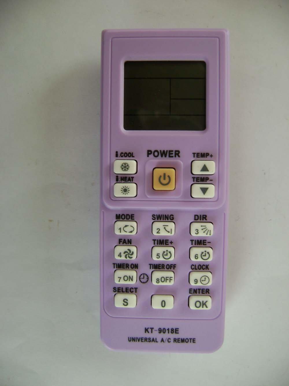 KT-9018E: 4000 codes in 1 A/C universal remote