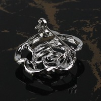 P168-378!Just 1PC/Lot! Gift Rose Brooch Metal Alloy Rhinestone Imitation Diaomond Ladies' Crystal Fashion Wedding Present