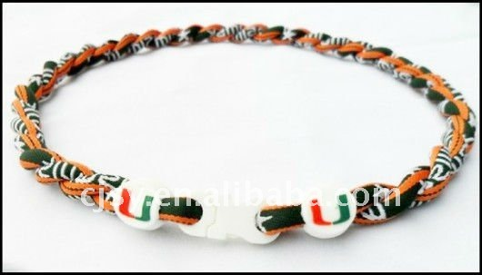 US Football & University Team titanium necklace ,Tornado sport heath necklace, single rope accept mix order 50pcs/lot